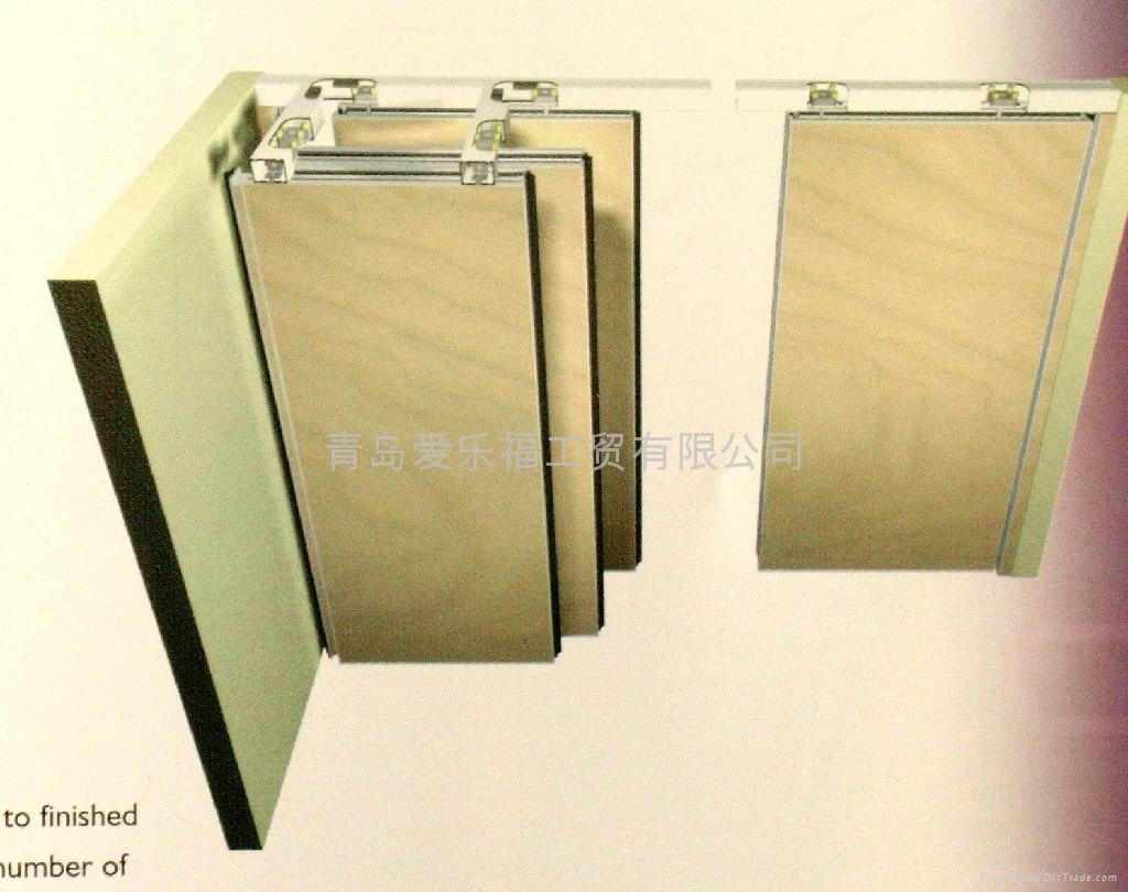Alaform auto movable sliding wall systems ala2000 3000 for Sliding glass wall panels
