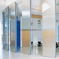 Manual movable folding sliding wall systems ala1155 for Retractable glass wall system