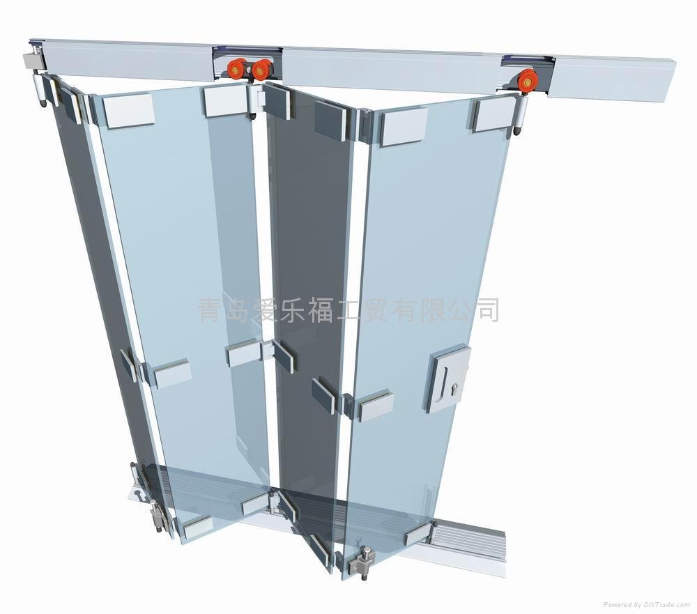 Folding Door Systems : Alaform frameless glasss folding door systems united