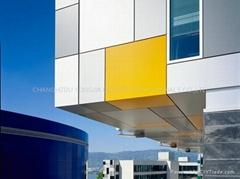 Curtain wall aluminium composite panel