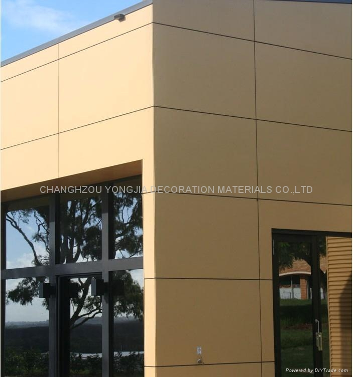 Composite House Construction : Curtain wall aluminium composite panel for building