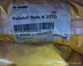 BASF颜料黄K2270(Paliotol Yellow K1800) 1