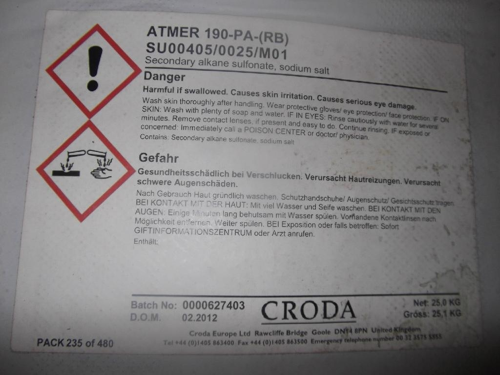 Antistatic Agent Atmer 190 2