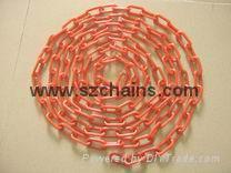 8MM路锥警示锥塑料链条 1
