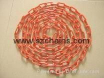 Plastic chains Plastic stanchions Caution Chains warning chains Link Chains