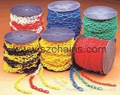 8MM塑料鏈條防護鏈隔離鏈塑膠鏈條