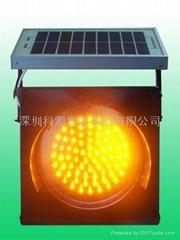 Solar yellow flashing warning light