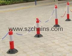 停車場用品反光標誌橡膠警示柱