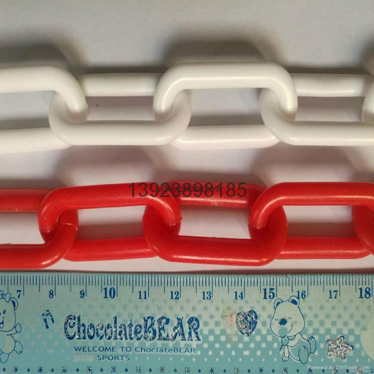 Plastic chains Plastic stanchions Caution Chains warning chains Link Chains 8