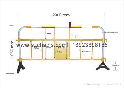 路橋施工安全塑料鐵馬圍欄 1