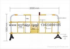 路桥施工安全塑料铁马围栏