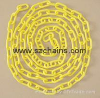 Plastic chains Plastic stanchions Caution Chains warning chains Link Chains 1
