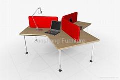 Vitra partition desk leg