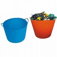 Flexible plastic buckets