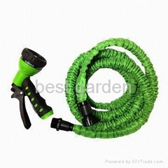 Expanded hose with  hose nozzle set