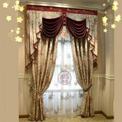 奢華歐式客廳窗帘