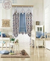 窗帘蓝色竖条地中海英伦 2