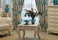 窗帘进口奢华蓝色绒布客厅 2