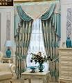 窗帘进口奢华蓝色绒布客厅 4