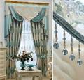 窗帘进口奢华蓝色绒布客厅 5