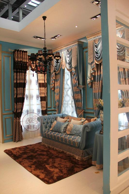 青花瓷窗帘 3