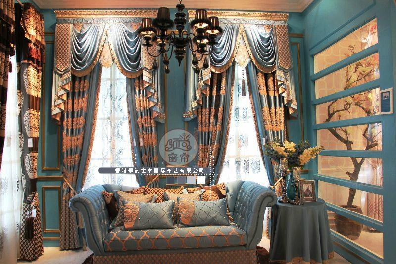 青花瓷窗帘 5