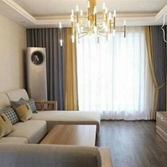 高級灰檸檬黃客廳窗帘
