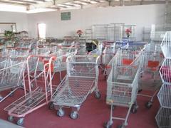 supermarket  basket carts, shopping basket stand