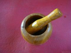 Wooden Garlic pot