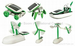 Promotional 6-in-1 Solar Power Robot Kit Toy, Educational and Fun to Make Boat