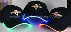 LED Cap with 3D Embroide