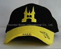 LED Cap with 3D Embroidery, Made of 100% Polyester Knitted Fabric
