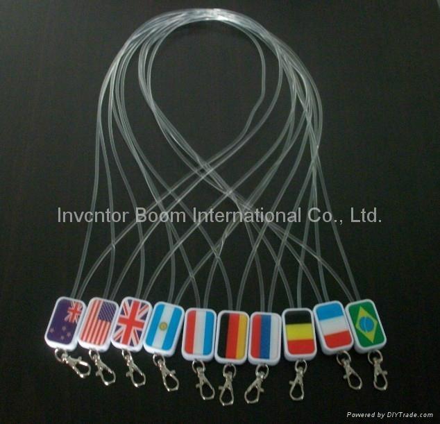 LED lanyards, LED flash light , flashing lanyard, led neck strap - New promotion