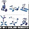 Fashion Solar Robots,6 In 1 Educational DIY Solar Kits,Solar Toys,promotion gift