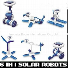 Fashion Solar Robots,6 In 1 Educational DIY Solar Kits,Solar Toys,promotion gift