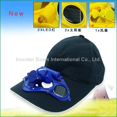 2v 80ma Solar Fan Caps Breathable And Shower Resistant