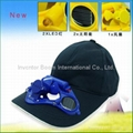2V/80mA Solar Fan Caps, Breathable and Shower-resistant,Suitable for Outdoor use
