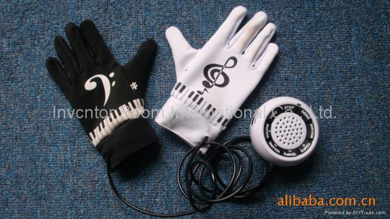 Piano Gloves music gloves Electronic Piano Hand Gloves Exercise Keyboard  1