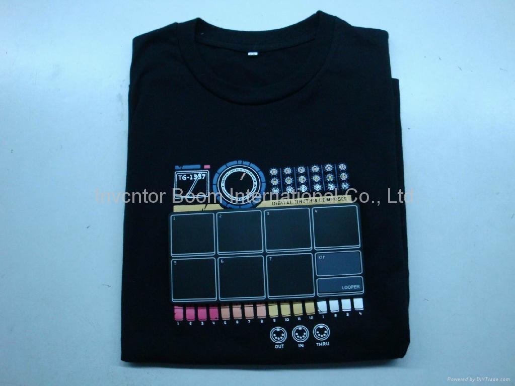 electronic drum machine shirt wearable dj quality drum machine thumps out sweet drum t shirt. Black Bedroom Furniture Sets. Home Design Ideas