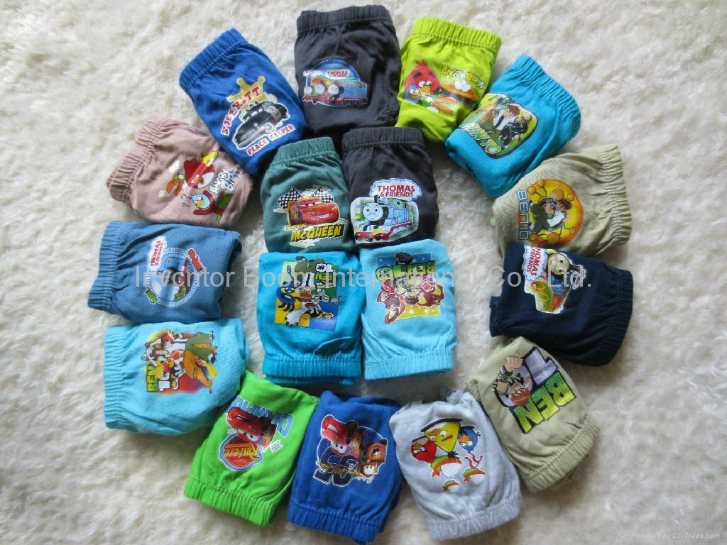 Cute Cartoon Mixed Designs Boy's Briefs Children Underwear  4