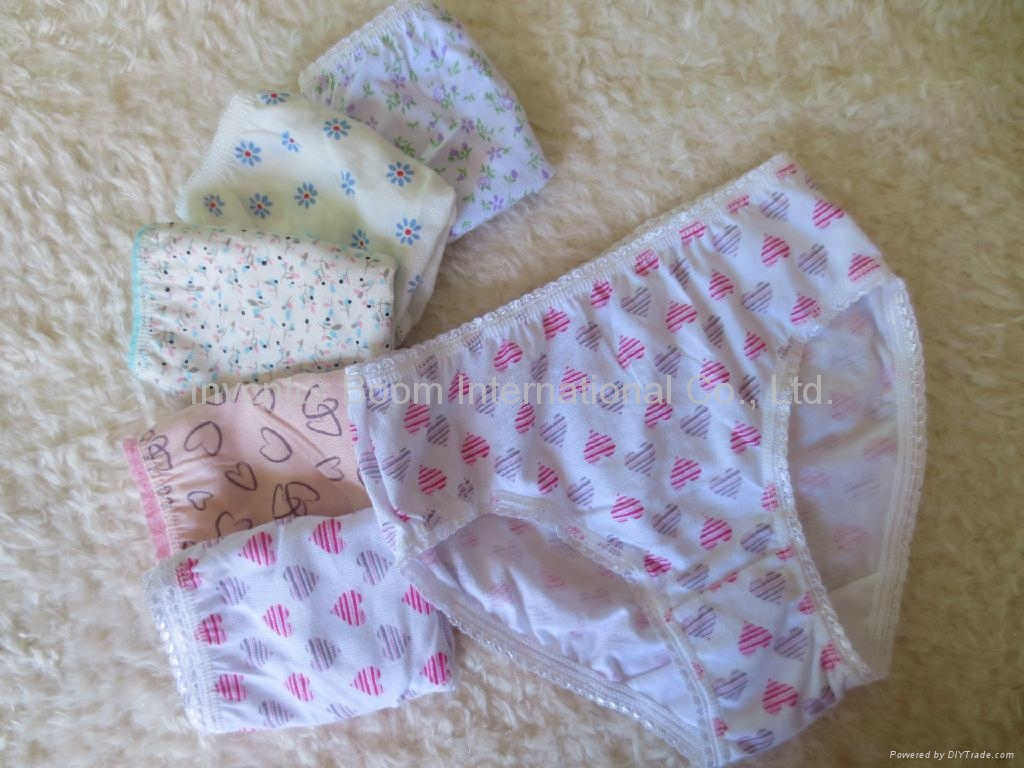Girls Soft 100%Cotton Panties Girls Cute Print Underwear Girl Briefs 1