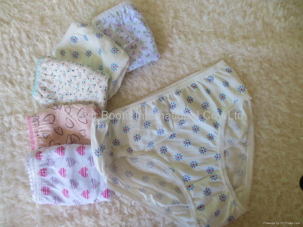 Girls Soft 100%Cotton Panties Girls Cute Print Underwear Girl Briefs 2