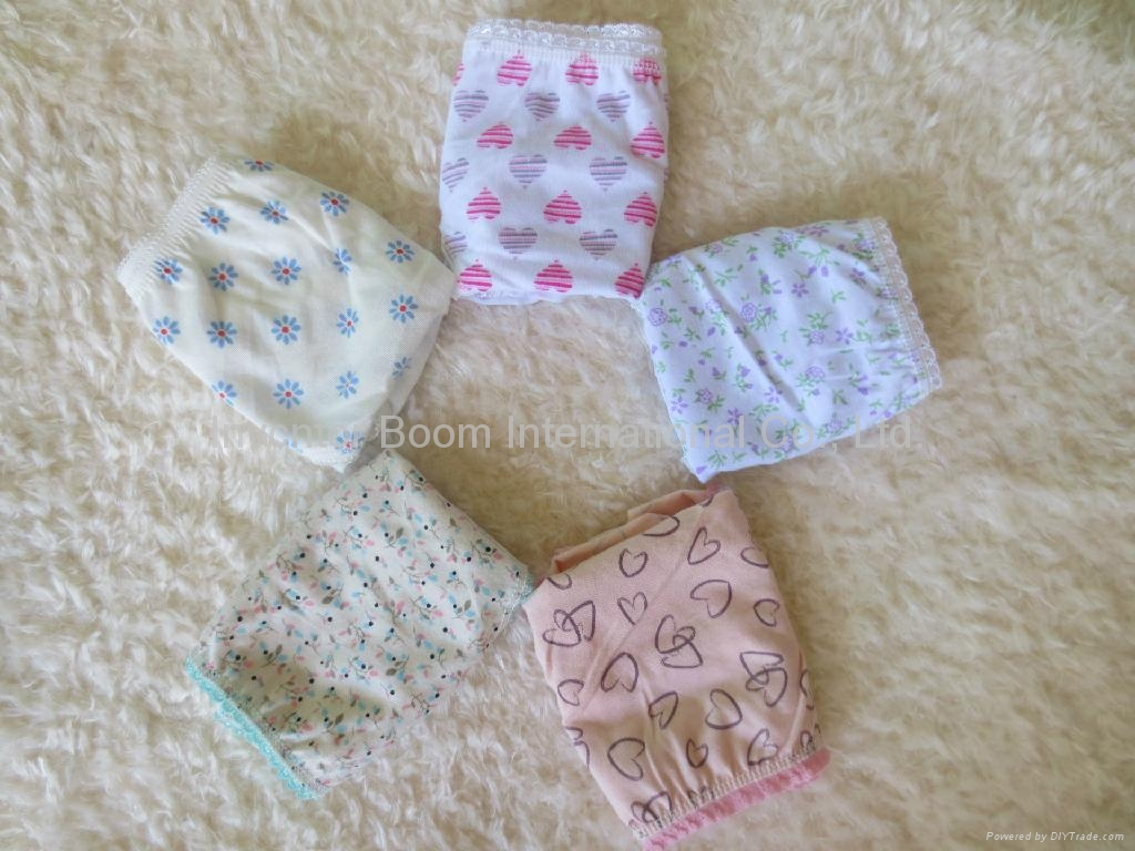 Girls Soft 100%Cotton Panties Girls Cute Print Underwear Girl Briefs 5
