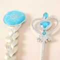 Frozen Crown Elsa Cosplay Crown Frozen Tiara  Crown + Wig +Magic Wand