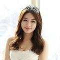 Frozen Elsa Diamond Queen Crown Plum Hair Jewelry Children Elsa Cosplay Crown