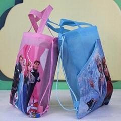 120pcs/lot Birthday Party Gift Frozen Anna Elsa Turtles Non-woven String Handbag