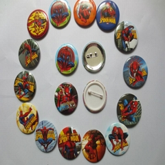 4.5cm Cartoon Badges Tin Pin Plastic Badges Tinplate Plastic Badge