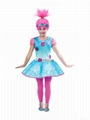 Trolls Party Forest  Kids Wig With Headband Trolls Poppy Party Cosplay Wigs