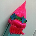 Trolls Party Forest Poppy Rose Red Wig New Design Adult Size