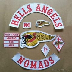 LIVE TO RIDE Motorcycle Hells Angels MC PATCHES Embroidered Iron On Patch Jacket